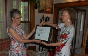 Betty Reed receives Teacher of the Year Award